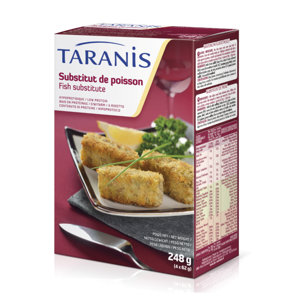 Taranis low protein fish substitute promin metabolics for Fish oil substitute
